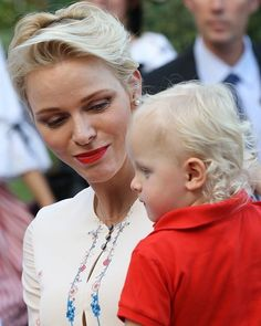 Prince Albert, Princess Charlene and Prince Jacques at 2016 traditional Monaco's picnic