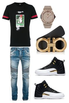 A menswear look from August 2017 featuring mens short sleeve shirts, mens slim jeans and hublot mens watches. Browse and shop related looks. Teen Boy Fashion, Tomboy Fashion, Look Fashion, Streetwear Fashion, Urban Fashion, Guy Fashion, Fashion Sites, Fashion Menswear, Sneakers Fashion