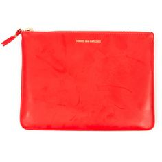 Comme des Garcons Clutch Wallet - Orange - SA5100 found on Polyvore
