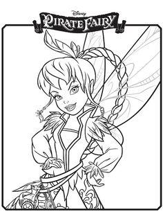 Kleurplaten Disney Fairies.Disney Pirate Fairy Coloring Pages Www Picturesso Com