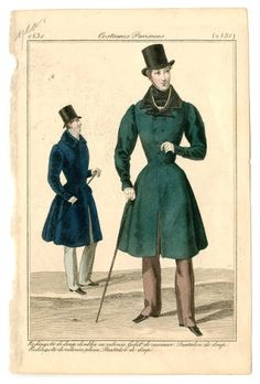1830 Gentlemen Nipped Waist Coats. Mens Wear Costume Institute Fashion Plates libmma.contentdm.oclc.org