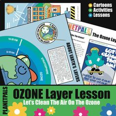 Planetpals Ozone Layer Lesson Activities Earth Science Environment Fun Fact Earth Every Day - Amped Up Learning Earth Science Lessons, Science Topics, Science For Kids, Science Fun, Teaching Kids, Kids Learning, Activity World, Friendship Activities, Ozone Depletion