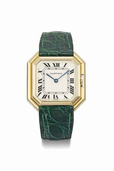 Cartier. A lady's 18K gold square-shaped wristwatch, circa 1980 #ChristiesWatches