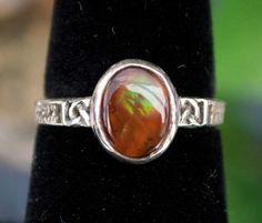 Beautiful Fire Agate Celtic Knot Ring by DaltonDesignsOnline, $200.00