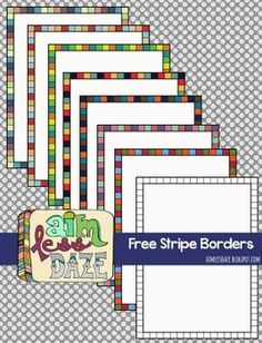 Free Full Page Stripe Borders