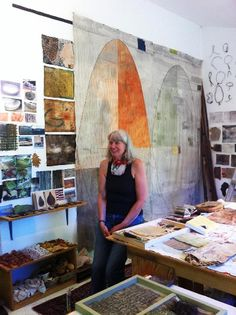 Dorothy Caldwell in her studio