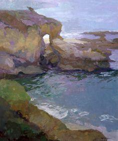 How To Oil Painting Portrait Landscape Illustration, Watercolor Landscape, Abstract Landscape, Seascape Paintings, Landscape Paintings, Oil Paintings, Landscapes, Water Art, Painting Inspiration
