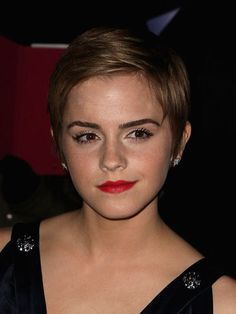 It's no wonder Lancôme chose Emma Watson as its newest spokesperson—she wears a red lip like a pro.