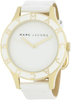 Marc by Marc Jacobs Women's MBM1100 Blade Large White Dial Watch - Need this!