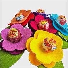 Lembrancinhas flor de Pirulito: