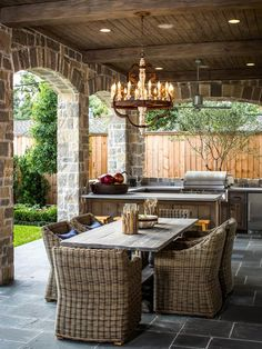 Outdoor Room & Outdoor Kitchen Decorating & Design Ideas- Pictures of Outdoor Rooms on Decks, Patios and Porches : Home & Garden Television Outdoor Rooms, Outdoor Furniture Sets, Outdoor Decor, Furniture Ideas, Outdoor Patios, Wicker Furniture, Furniture Layout, Outdoor Ideas, Outdoor Living Spaces