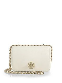 Tory Burch Mercer Pebbled-Leather Chain Shoulder Bag