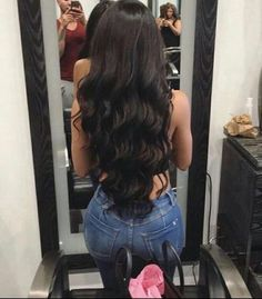 Pretty Hairstyles, Straight Hairstyles, Curly Hair Styles, Natural Hair Styles, Hair Laid, Brunette Hair, Gorgeous Hair, Hair Looks, Hair Inspiration
