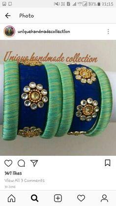 Silk Thread Bangles Design, Silk Bangles, Silk Thread Earrings, Thread Jewellery, Jewellery Making, Beaded Necklace Patterns, Jewelry Patterns, Jewelry Crafts, Handmade Jewelry