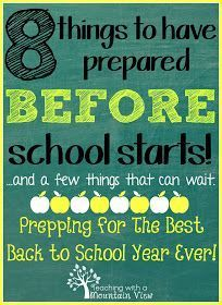 Preparing for the New School Year with tips and easy to follow tricks!