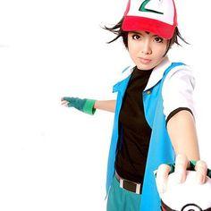 2016 Hot Pokemon Go High Quality Blue Ash Ketchum Trainer Poke Ball Cosplay Costume Jacket Gloves Hat Ash Ketchum Costume