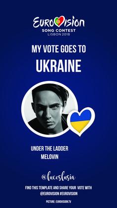 Eurovision 2018 Instagram template by @luceslusia - Ukraine