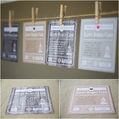 Happy Wishes Card: creëer een alternatief gastenboek - Pinterested @ http://wedspiration.com.
