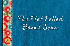 Sewing 101: The Flat Felled Bound Seam - Tutorial by www.thingsforboys.com