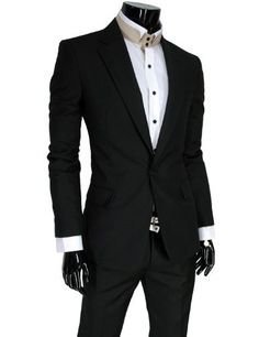 TheLees (SV401J) Mens Business Slim Fit One Button Dress Suit Blazer Jacket Black X-Large(US Large) TheLees, http://www.amazon.com/dp/B007VCP0CI/ref=cm_sw_r_pi_dp_uBYQpb0R1FY91