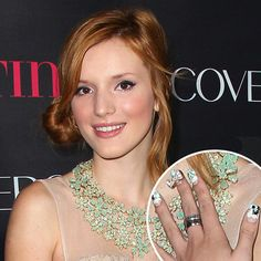 What do you think of Bella Thorne's Cat Nail Art? @bellasugar