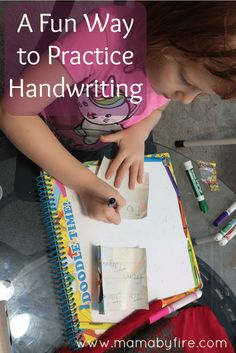 Writing the same thing over and over can get boring for kids. But my daughter and I found a fun way for her to practice handwriting that she loves!