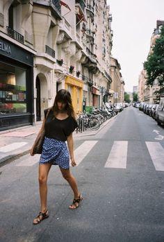 casual wrap skirt - jeanne damas, paris