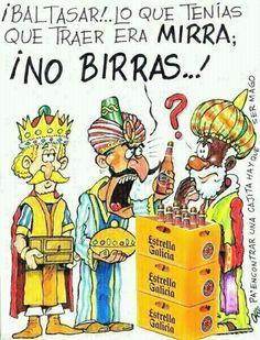 Nuestro rey favorito siempre fue Baltasar, ¿por qué será?, jeje. ¡Feliz día de Reyes!, a ser buenos que sino, en vez de birras os traen carbón.