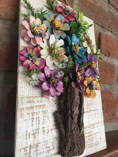 Items similar to Handmade, Framed Pinecone Flowers Wall Hanging on Etsy - Care - Skin care , beauty ideas and skin care tips Pine Cone Art, Pine Cone Crafts, Pine Cones, Wood Crafts, Diy And Crafts, Crafts For Kids, Arts And Crafts, Handmade Crafts, Flower Crafts