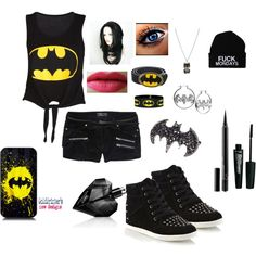 """""""Batman Outfit .....Agian"""" by chrystal-bvb on Polyvore"""