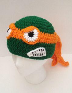 Crochet Teenage Mutant Ninja Turtle inspired Beanie