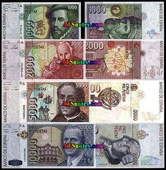 spain currency | Spain banknotes - Spain paper money catalog and Spanish currency ...