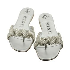 1bca0eb20 Trendy Beachwear for the Summer Aisha Silver Metallic Swarovski Sandals
