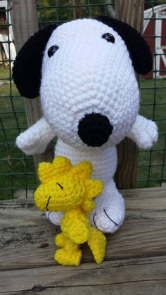 Check out this item in my Etsy shop https://www.etsy.com/listing/246087701/beagle-dog-snoopy-and-woodstock-stuffed