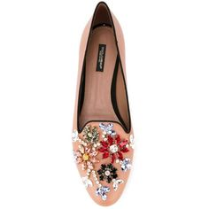 Dolce & Gabbana 'Vally' slippers ($900) ❤ liked on Polyvore featuring shoes and slippers