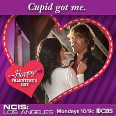 Valentine's Day Cards From Your Favorite TV Stars Valentine Day Cards, Happy Valentines Day, Kensi Blye, Eric Christian Olsen, Ncis New, Daniela Ruah, Ncis Los Angeles, Get Happy, Best Tv Shows