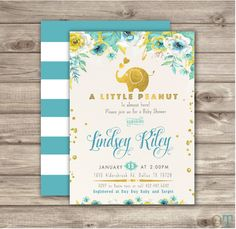 A personal favorite from my Etsy shop https://www.etsy.com/ca/listing/254790206/elephant-baby-shower-invitation-boy-a