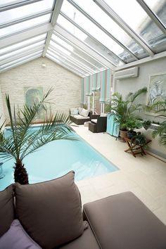 Véranda piscine intérieure - Collection Serenity - Société Rideau