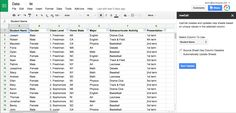 Add-on rowCall allows you to sort data from a large spreadsheet into tabs.