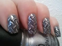 Diamond plate nails for the ladies! Us Nails, Hair And Nails, Country Girl Nails, Mani Pedi, Manicure, Girls Nails, Nail Envy, Just Dream, Redneck Girl