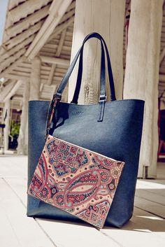 #esprit #shopper #bag #paisleys #blues #beachlook