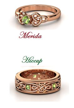 merida ring | Merida and Hiccup Wedding Rings by DarkMousyxKagome