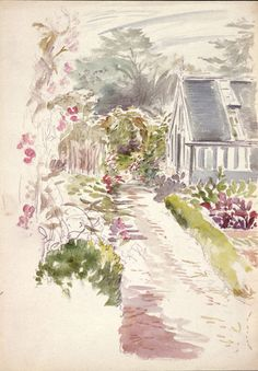 Gwaynynog garden sketch 1909 Beatrix Potter: Place as Inspiration - Victoria and Albert Museum