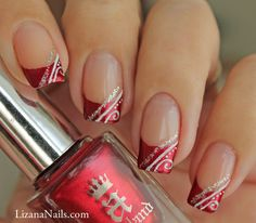 Red French façon gel - Nail Art