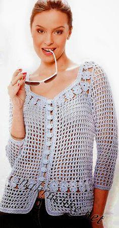 Patrones crochet saco de dama