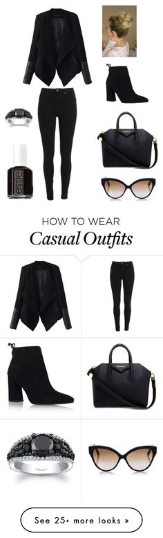 """Casual"" by icoksharov on Polyvore featuring Givenchy, Relaxfeel, Stuart Weitzman, Cutler and Gross and Essie"