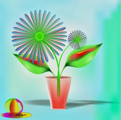 MY CREATION: A Floral Design...Designed by CorelDRAW