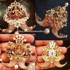 Latest puligoru pendant designs in heavy model. Puligoru pendant is best suited mens jewellery which gives a regal look. The differently designed puligoru pendants featuring Lakshmi design Krishna design Lord Balaji design are latest models. Gold Chain Design, Gold Bangles Design, Gold Jewellery Design, Mens Gold Jewelry, Gold Wedding Jewelry, Mens Jewellery, Jewelry Design Earrings, Necklace Designs, Beaded Jewelry