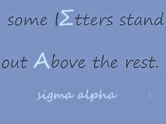 Sigma Alpha Letters