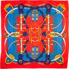 "HERMES Scarf "" Grand Manege ""by Henri d Origny"